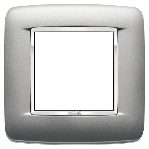 VIMAR - 20672.C13 - Двумодулна рамка Round Bright matt silver