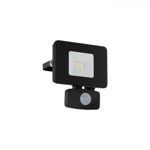 EGLO -  ВЛ ПРОЖЕКТОР LED 10W 900lm 5000K със сензор черно 'FAEDO 3' 97459