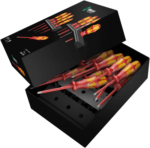 WERA - Комплект отвертки Kraftform Plus Big Pack VDE 100, изолирани (14 части)