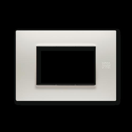 SIMON URMET - 13003.PV Dusty Grey Technopolymer Flexa тримодулна рамка