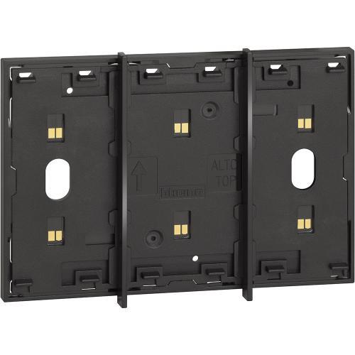 BTICINO - Електрифициран лицев панел модулен 3 мод. цвят черен Living Now Bticino KG8103