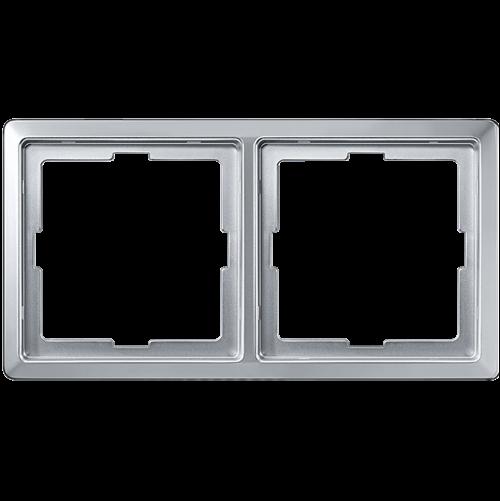 SCHNEIDER ELECTRIC - MTN481260 рамка двойна алуминий Artec Merten