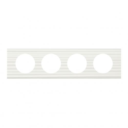 LEGRAND - Четворна рамка Celiane 69014 бял corian