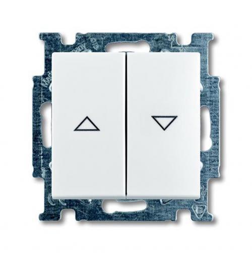 ABB - Ключ за щори ABB Basic55 Бяло 1012-0-2140