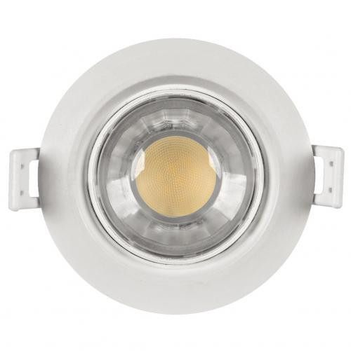 ULTRALUX - PLR842 LED луна за вграждане подвижна кръг 8W, 4200K, 220V, неутрална светлина, SMD2835