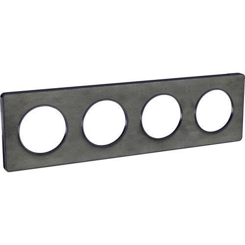 SCHNEIDER ELECTRIC - S540808V Odace Touch aluminium декоративна рамка четворна камък с външен кант в цвят антрацит