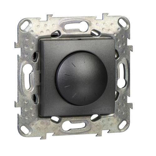 SCHNEIDER ELECTRIC - MGU5.513.12 Универсален димер девиатор UNICA за LED лампи 400W, графит