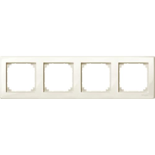 SCHNEIDER ELECTRIC -  MTN478444 M-Smart frame, 4-gang, white, glossy
