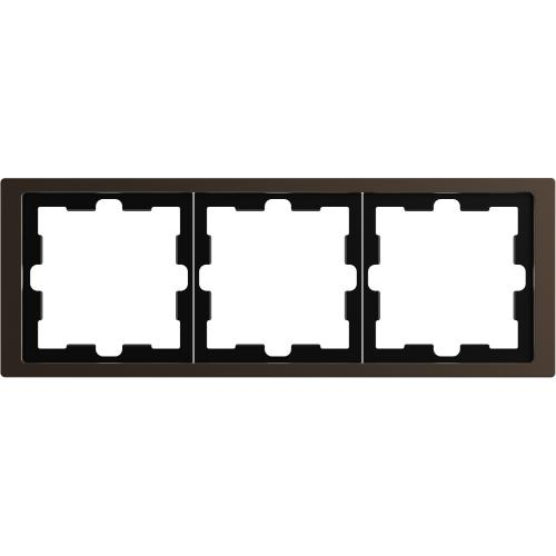 SCHNEIDER ELECTRIC - MTN4030-6552 рамка тройна метална мока D-Life Merten