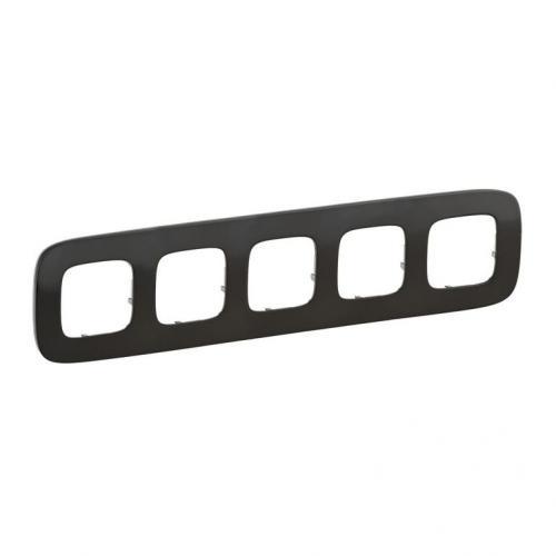 LEGRAND - Петорна рамка ALLURE 755515 тъмен никел