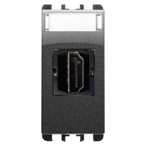 SIMON URMET - 10450.AC HDMI socket connector, 1 mod. dark iron