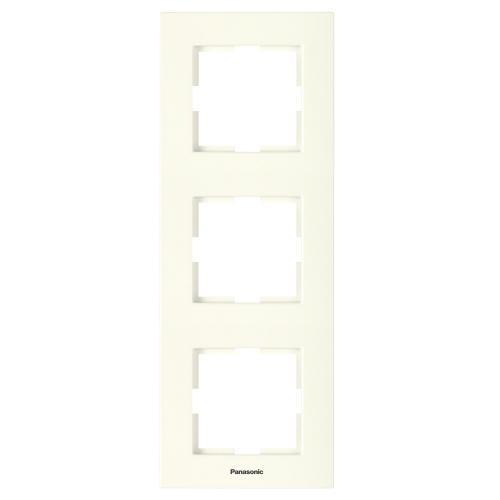 PANASONIC - Тройна рамка вертикална крем Panasonic Kare WKTF08132BG‐EU1