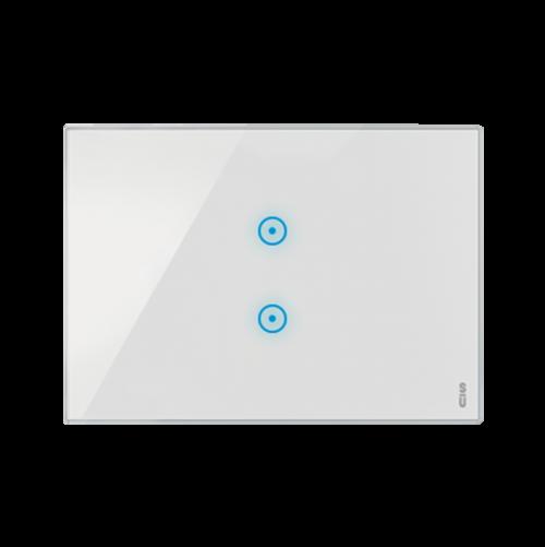 SIMON URMET - 14523.BN Тримодулна TOUCH рамка за димер и ролетни щори White Snow