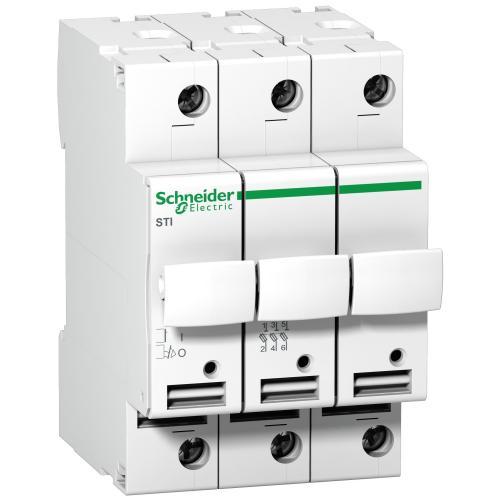 SCHNEIDER ELECTRIC - Разединител стопяем предпазител Acti 9 STI 3P 25A 10.3X38 mm A9N15656
