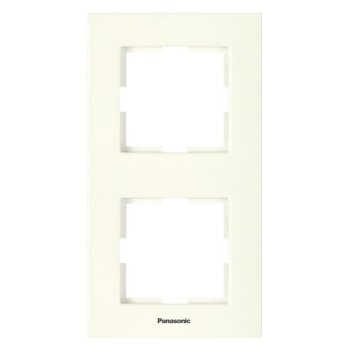 PANASONIC - Двойна рамка вертикална крем Panasonic Kare WKTF08122BG‐EU1