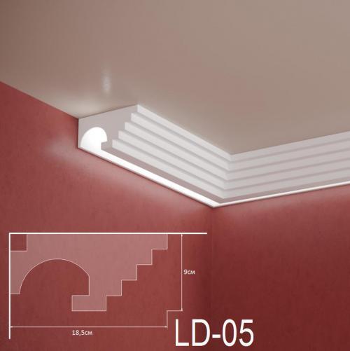 ADORN - Декоративен корниз за индиректно-осветление LD-05-2m 185х90 мм