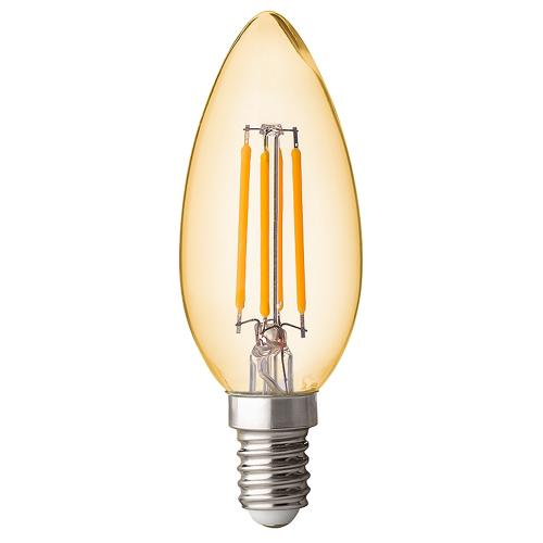 ULTRALUX - LFC41425D LED димиращ filament конус 4W, E14, 2500K, 220V AC, амбър