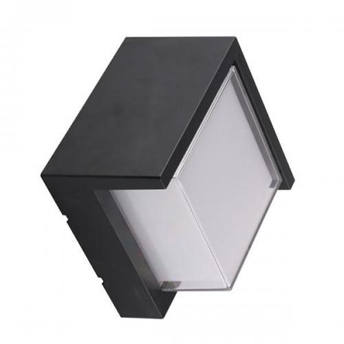 V-TAC -  12W LED Стенна Лампа 3000К Черна Квадрат Полу Периферия SKU: 8539 или 4000К 8540 VT-827