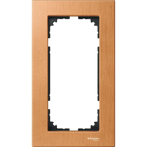SCHNEIDER ELECTRIC -  MTN4058-3470 Wood frame, 2-gang without central bridge piece, Beech, M-Elegance