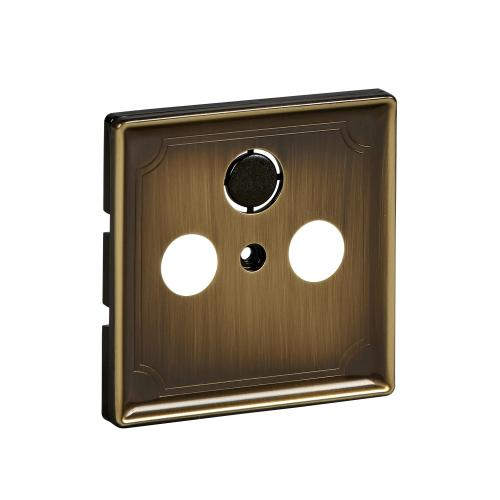 SCHNEIDER ELECTRIC - MTN294143 cover plate TV+SAT Antique