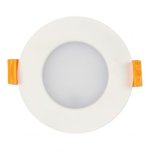 ULTRALUX - LLV740 LED луна за вграждане IP44 7W, 4000K, 220V, неутрална светлина, SMD2835, бяла