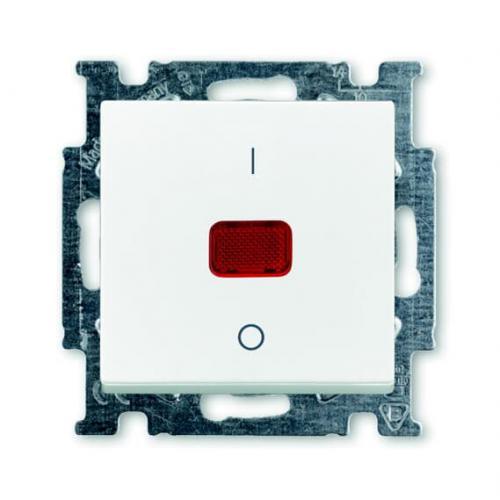 ABB - Бойлерен ключ 20A с индикация и 1/0 надпис цвят БЯЛ Basic 55 ABB 2CKA001020A0089