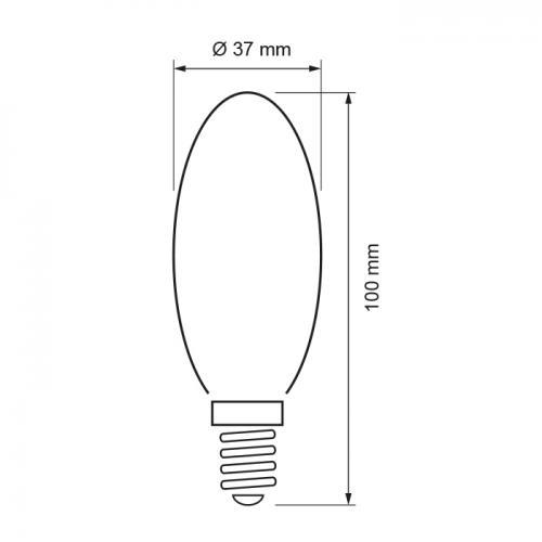ULTRALUX - LBC51427 LED КОНУС 5W, E14, 2700K, 220V, ТОПЛА СВЕТЛИНА