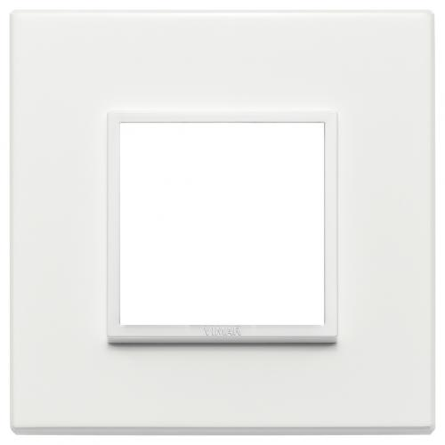 VIMAR - 21642.17 - Двумодулна рамка aluminium total white