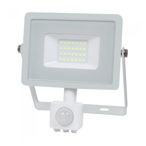 V-TAC PRO - 20W LED Прожектор Сензор SAMSUNG ЧИП Бяло Тяло 3000К SKU: 448, 4000К SKU: 449, 6400К SKU: 450 VT-20-S