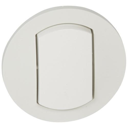 LEGRAND - Лицев панел за ключ IP44 Celiane 67801 бял