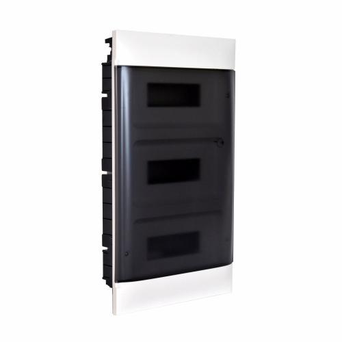 LEGRAND - Табло за скрит монтаж 3х12 мод. Practibox S с прозрачна врата и Н и РЕ клеми 135153
