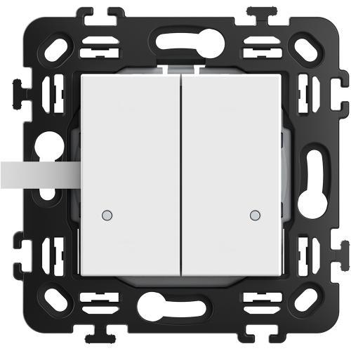 BTICINO - RW4003DCW Сериен ключ Smart БЕЗжичен с 2 мод. носеща рамка цвят Бял Classia Bticino с Netatmo