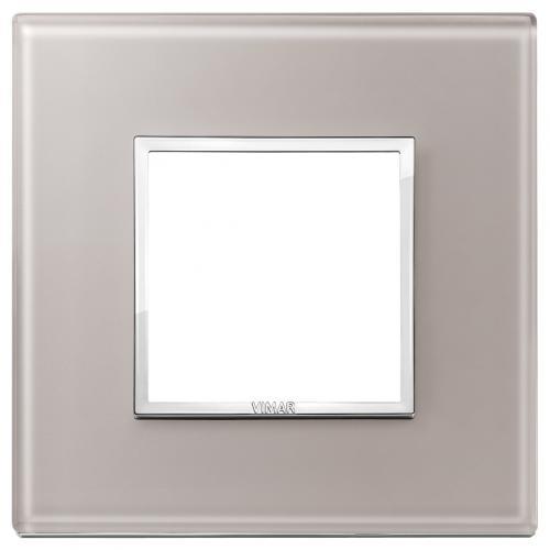 VIMAR - 21642.73 - Двумодулна рамка crystal pearl grey