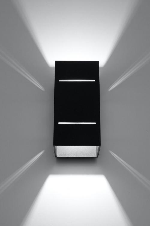 SOLLUX - Аплик BLOCCO  black SL.0478