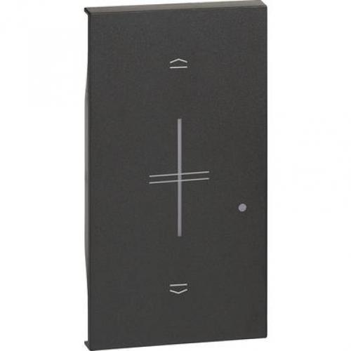 BTICINO - Лицев панел за Smart БЕЗжичен ключ за щори 2 мод. Черен Living Now My Home Netatmo KG43M2