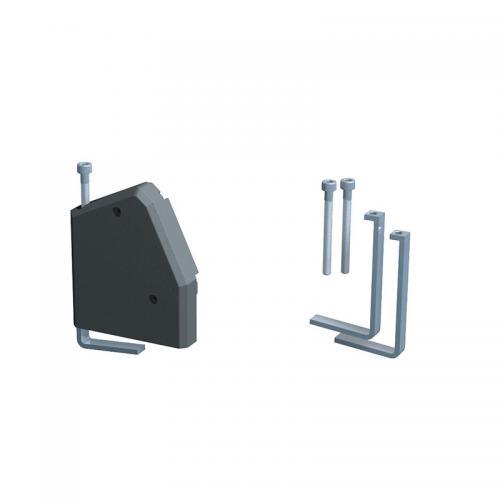 LEGRAND - Комплект скоби за модул DESK 1, алуминиеви, за монтаж към плот (2 броя), Bachmann 930.120