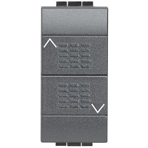 BTICINO - L4037 Бутон за управление на щори Living Light антрацит