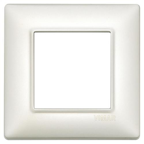 VIMAR - 14642.75 - Plate 2M metal pearl silver