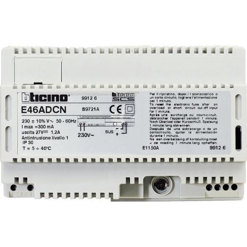 BTICINO - E46ADCN Захранване input 230 V~ output 27 V= 1.2 A за MyHOME_Up - 8 DIN модула