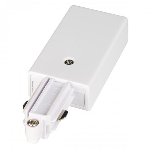 SLV - Захранване за 1-фазна HV-шина,EARTH LEFT  бял 143031
