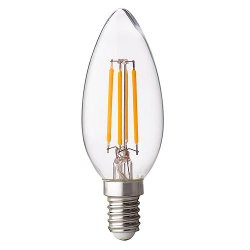 ULTRALUX - LFC41442D LED димиращ filament конус 4W, E14, 4200K, 220V AC, неутрална светлина