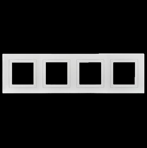 SCHNEIDER ELECTRIC - MGU2.008.18 декоративна рамка Unica Basic четворна бял