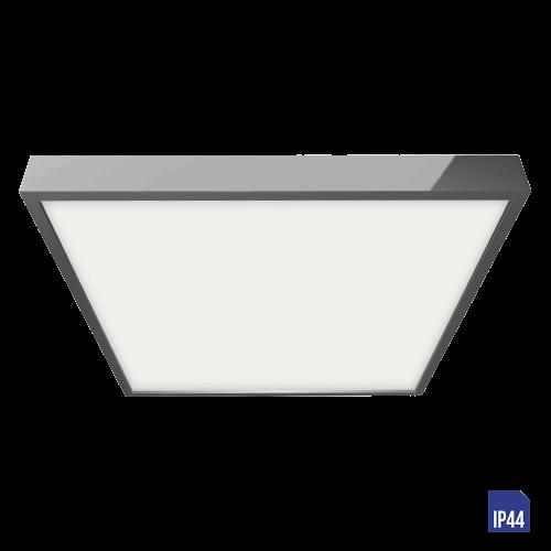 LUXERA - LED панел квадрат 24W влагозащитен IP44 външен монтаж  LENYS 49031 хром