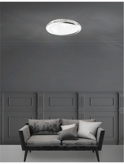 NOVA LUCE - Плафон PALERMO 7311402 E27 3x40 W, IP20 Bulb Excluded D: 38 H: 9 cm