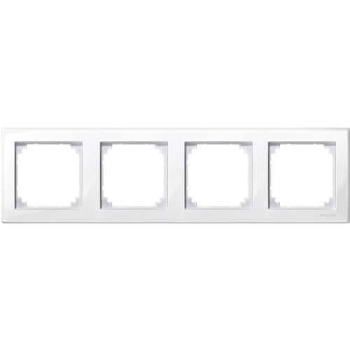 SCHNEIDER ELECTRIC - MTN478425 M-Smart frame, 4-gang, active white, glossy