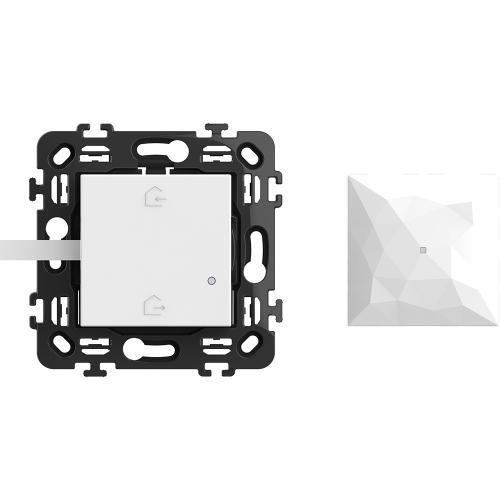BTICINO - RW4500C Стартов пакет Smart (Gateway 2 мод. + Master ключ БЕЗжичен с 2 мод. носеща рамка) цвят Бял Classia Bticino с Netatmo