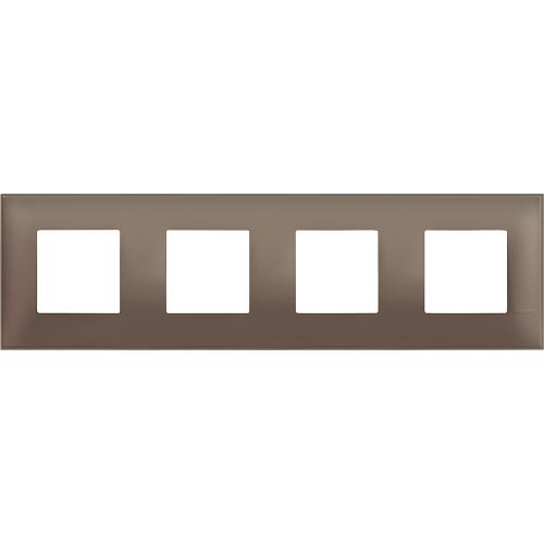 BTICINO - R4802M4TF cover plate - 2+2+2+2 horizontal/vertical installation modules - Terra soft