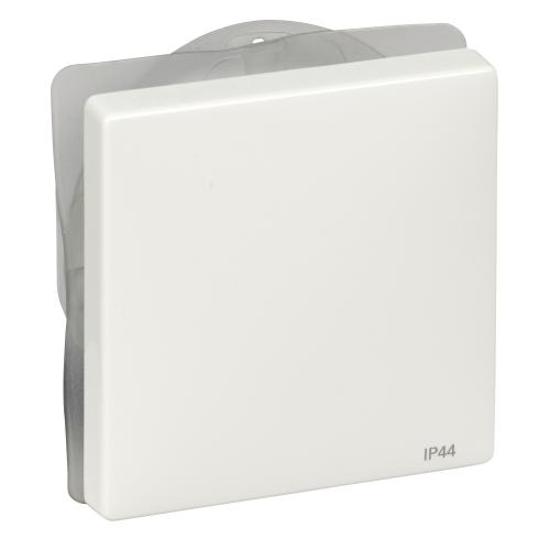 SCHNEIDER ELECTRIC - MTN412019 Лицев панел за ключ/бутон полярно бял IP44 Artec и Antique