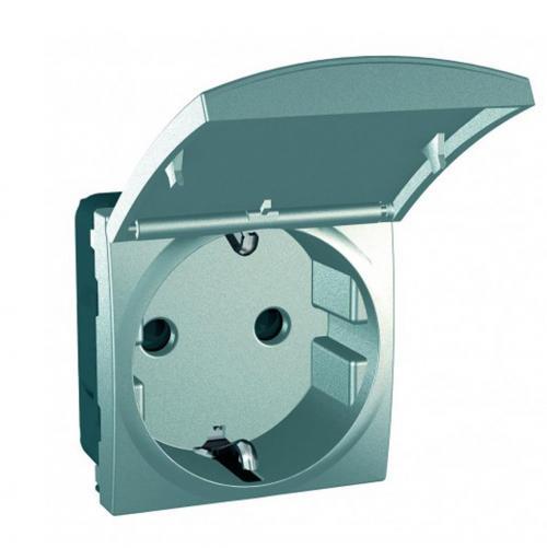 SCHNEIDER ELECTRIC - MGU3.037.30TA Unica Top/Class КОНТАКТ с капак алуминий 2M