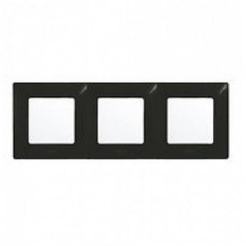 LEGRAND - Тройна рамка NILOE 397053 черен